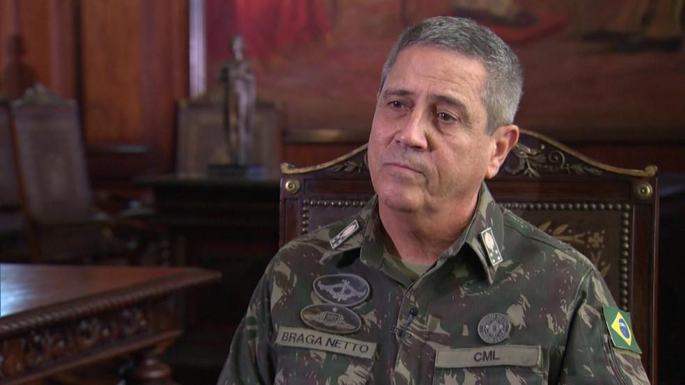 General Walter Souza Braga Netto  — Foto: Reprodução/GloboNews