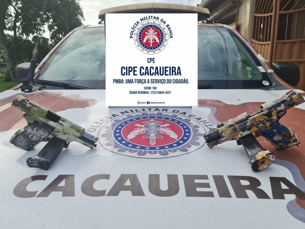 Três homens suspeitos de envolvimento em crimes contra banco morrem em confronto com policiais na BR-101 — Foto: Divulgação / SSP-BA