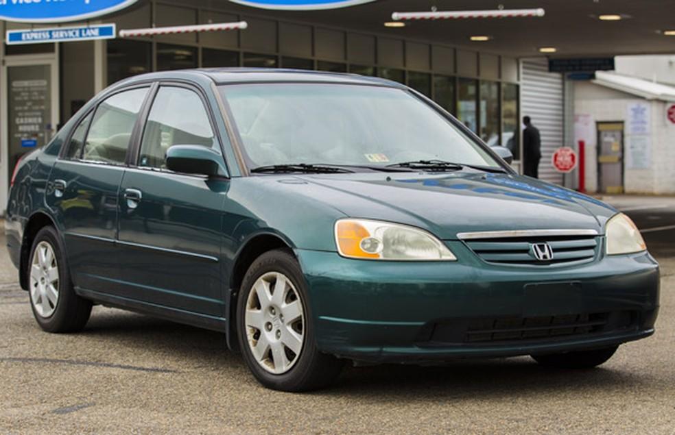Honda Civic entre 2001 e 2006 foram convocados para recall por airbags mortais — Foto: Divulgação/NHTSA