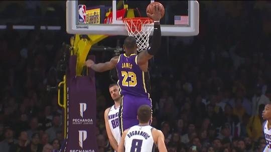 Confira as dez melhores jogadas da noite da NBA, com direito a momentos mágicos de LeBron