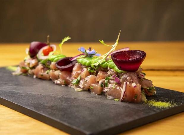 Tartar de atum do do D'autore Restaurante (Foto: Divulgação)