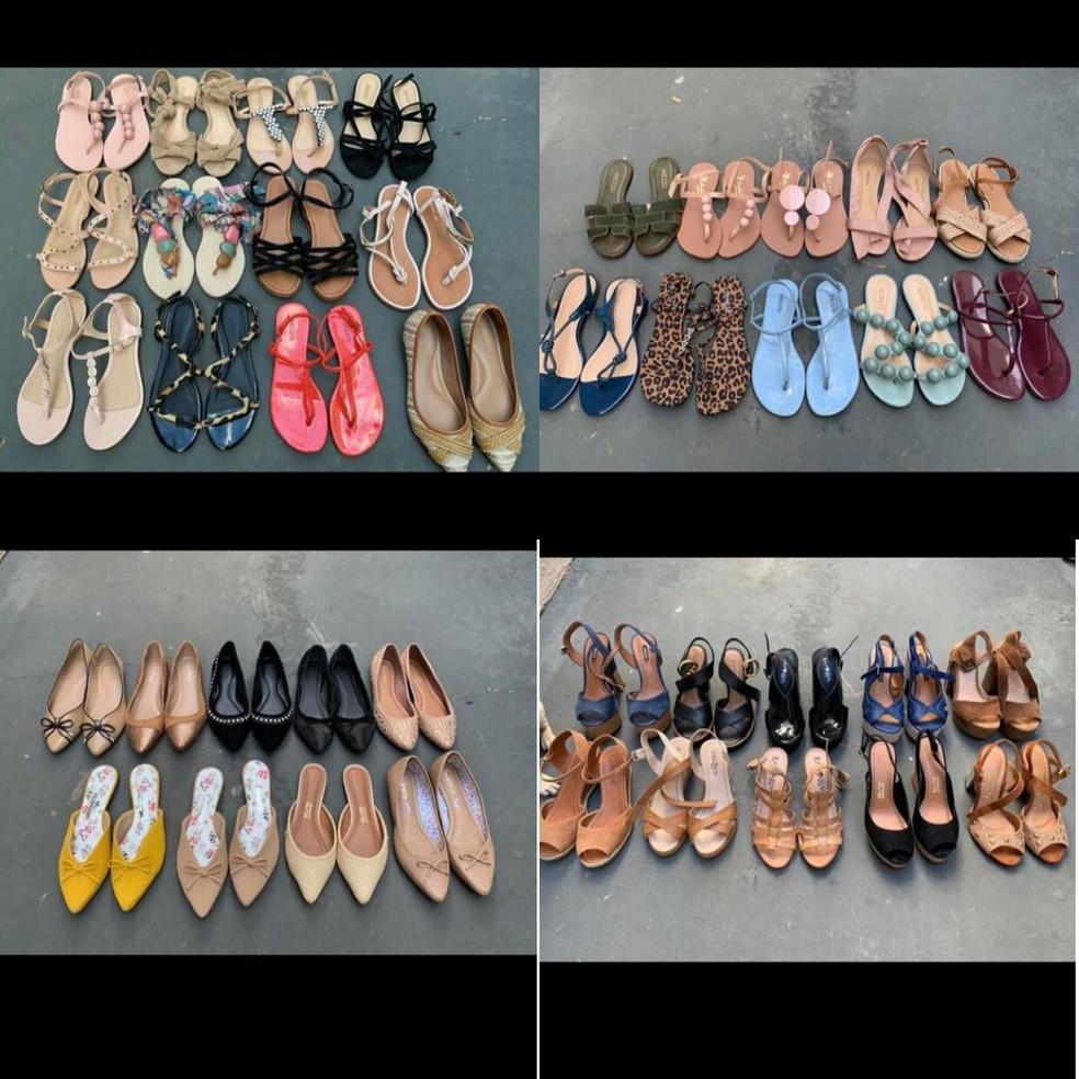 e45a758a4 ... Mulher levou sapatos para vender na rua após perceber o quanto era  consumista — Foto: