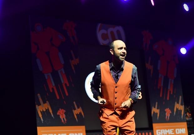 Joe Pulizzi, especialista em marketing de conteúdo, durante palestra (Foto: Divulgação)