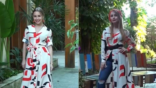 Carla Diaz gosta de misturar peças de verão e de inverno para compor look: 'Roupa não é descartável'