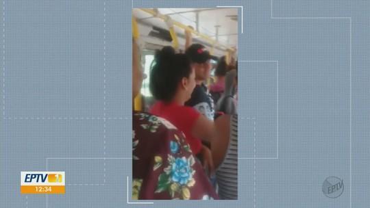Passageiros reclamam da lotação de ônibus em Ribeirão Bonito