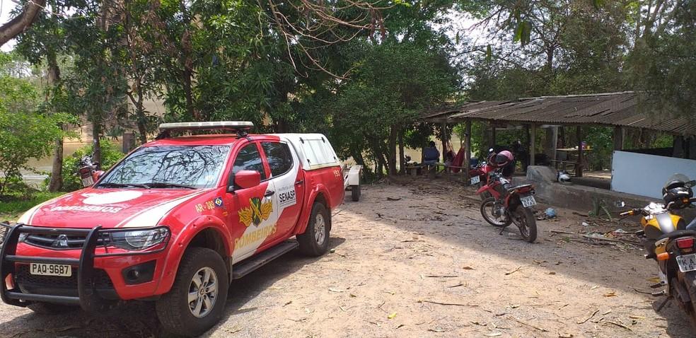 Corpo de Bombeiros localizou os corpos dos dois jovens — Foto: Ianara Garcia/TV Centro América