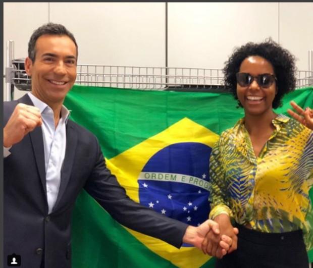 César Tralli e Maju Coutinho (Foto: Reprodução/Instagram)