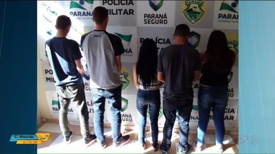 Cinco pessoas foram presas em São Carlos do Ivaí suspeitas de arrombar caixas eletrônicos