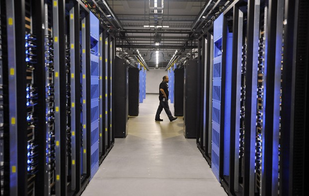 Um centro de dados do Facebook na Carolina do Norte, que atende a mais de 840 milhões de usuários do Facebook (Foto: Getty Images)