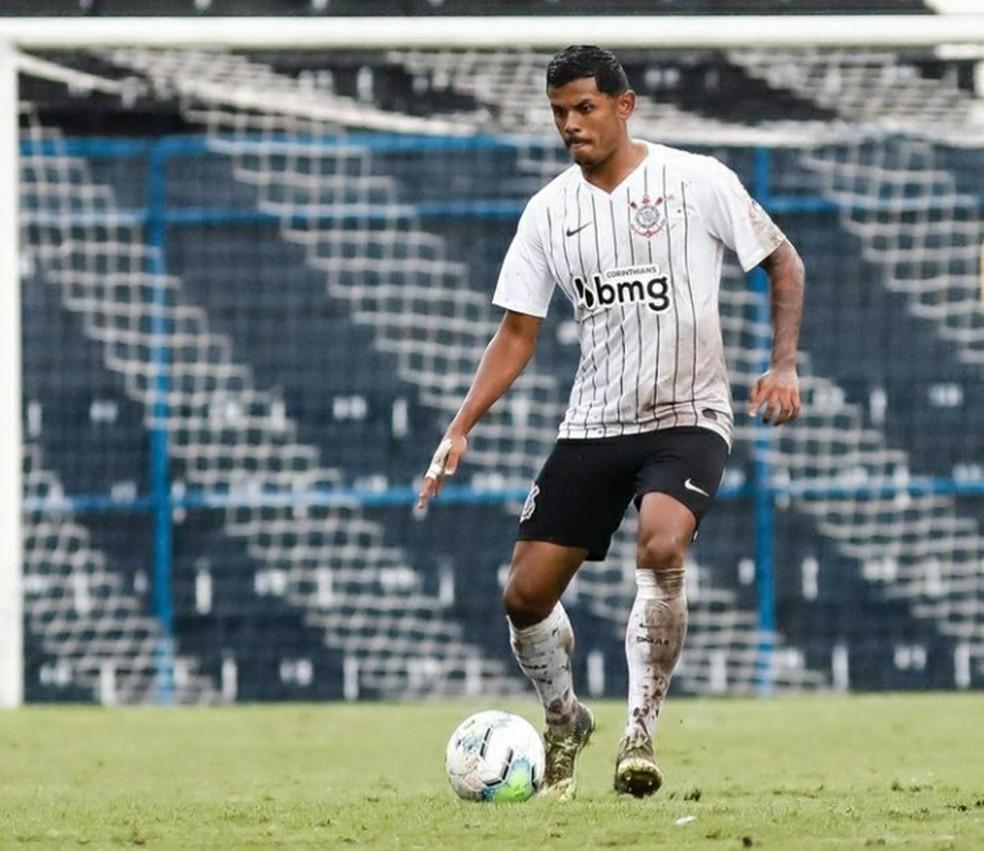 Adriel Silva jogou o Brasileiro de Aspirantes de 2020 no Timão — Foto: Divulgação/SC Corinthians Paulista