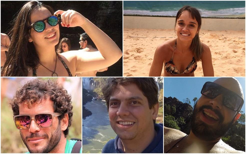 Cinco pessoas morreram em tromba d'água em São João Batista do Glória, MG — Foto: Reprodução Facebook