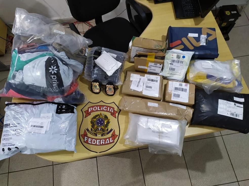 Polícia Federal evita furto de mercadorias dos Correios em Marabá  — Foto: Divulgação PF