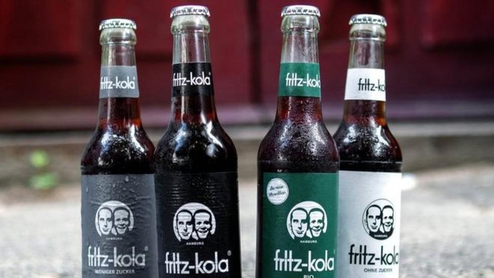 O refrigerante alemão Fritz-Kola foi lançado no mercado em 2003 — Foto: Fritz-Kola