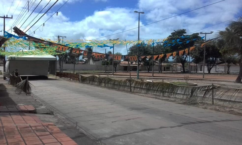 Jovem foi baleado durante festa junina na Zona Norte de Natal (Foto: Julianne Barreto/Inter TV Cabugi)