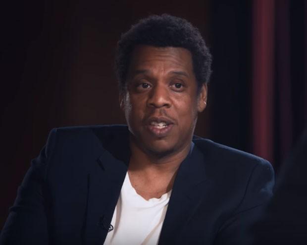 Jay-Z na entrevista a David Letterman (Foto: Reprodução YouTube)