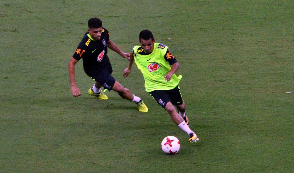Maradona do Amazonas treinou com a Seleção no último sábado (Foto: Mauro Neto/Sejel)