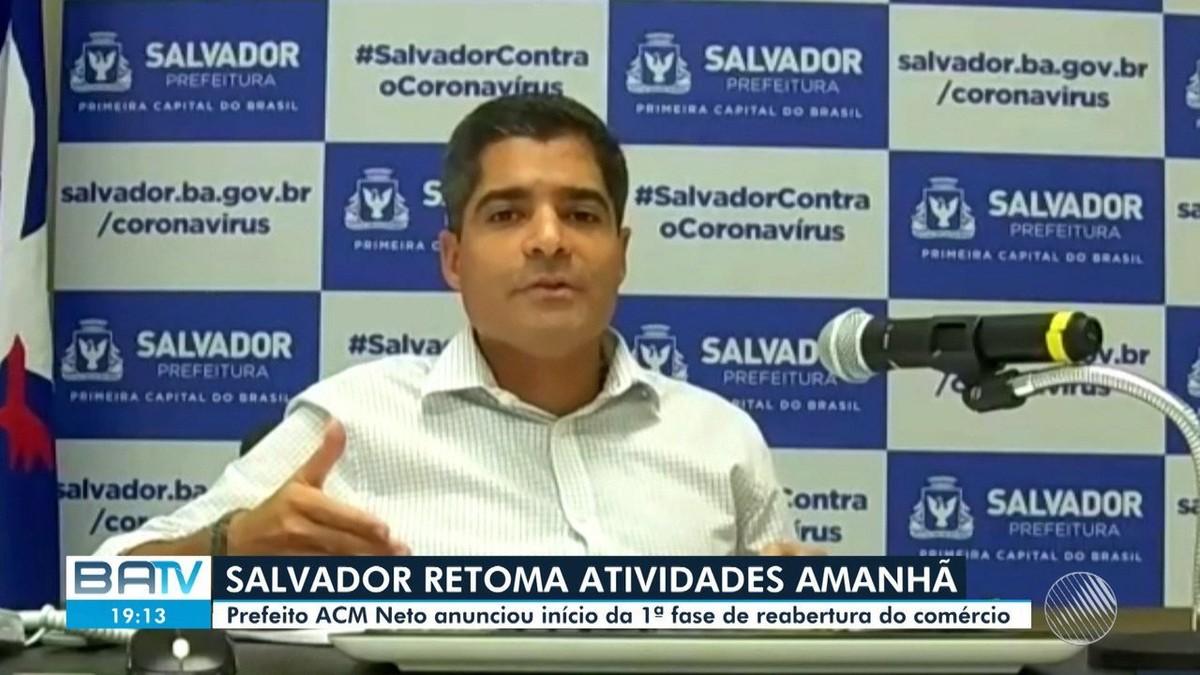 Após 4 meses fechados, shoppings e comércio de rua de Salvador são autorizados a reabrir – G1