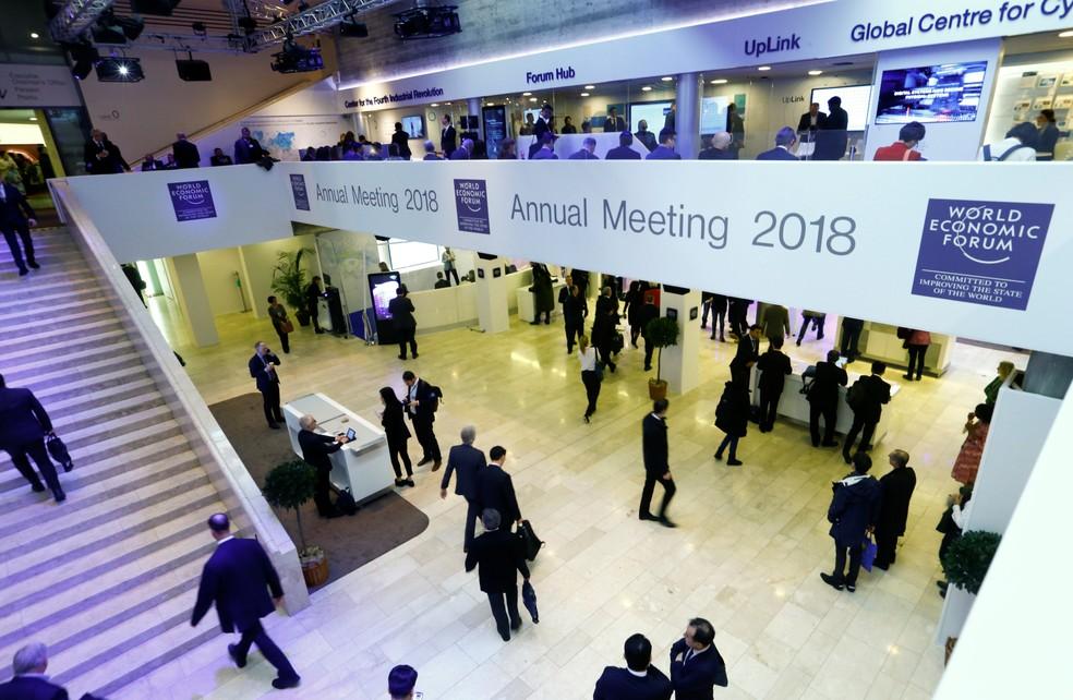 Fórum Econômico Mundial reúne líderes políticos e econômicos em Davos, na Suíça (Foto: REUTERS/Denis Balibouse)