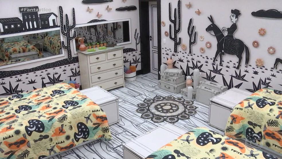 Nova decoração da casa do BBB21 — Foto: Reprodução/Globo