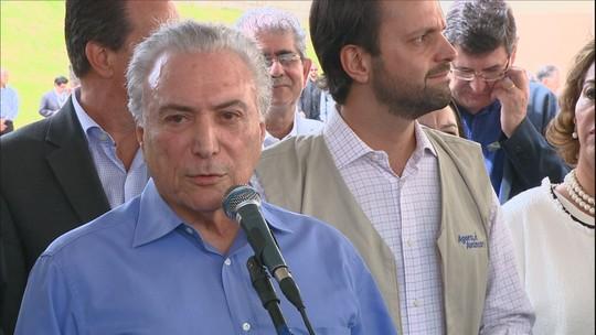 Resultado de imagem para 'Será uma coisa cortês e elegante', diz Temer sobre saída do PSDB da base do governo