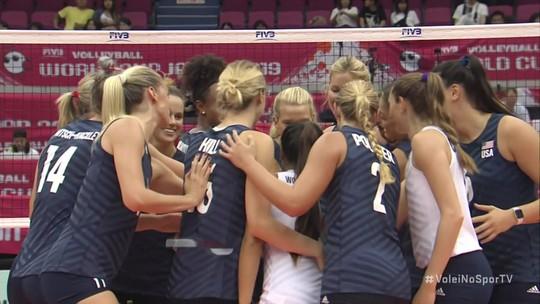 Pontos finais de Estados Unidos 3 x 0 Quênia pela Copa do Mundo de Vôlei Feminino