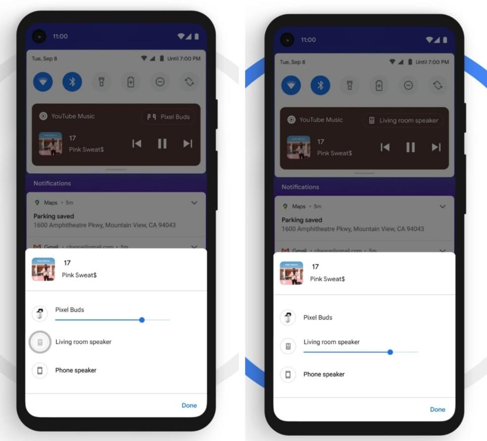 Android 11 promete mais rapidez ao conectar dispositivos — Foto: Divulgação/Google