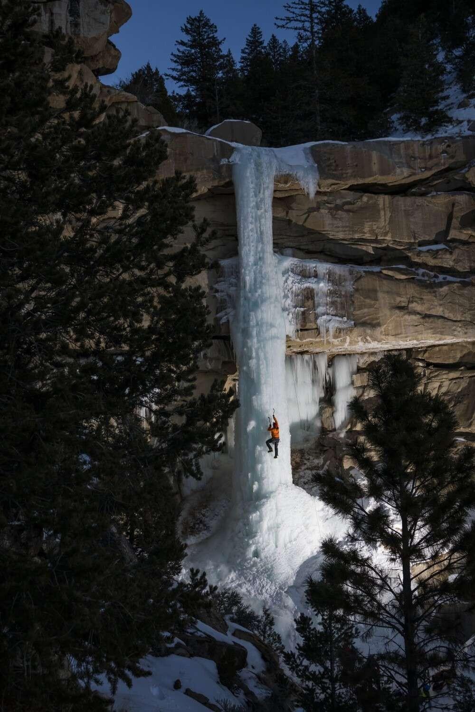 Água congelada cria um caminho para os alpinistas, por David Martinez  (Foto: @dmartphoto)