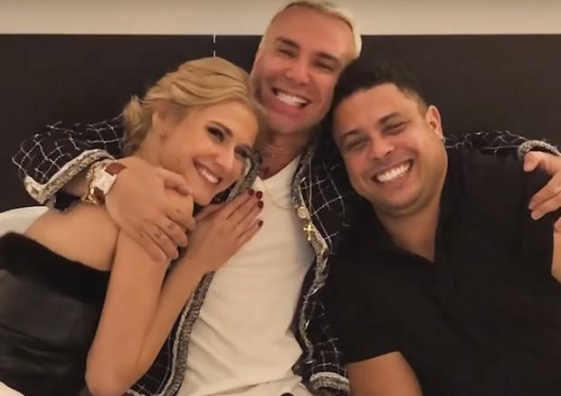 Desafio de Casal: Ronaldo Fenômeno e Celina (Foto: Reprodução)