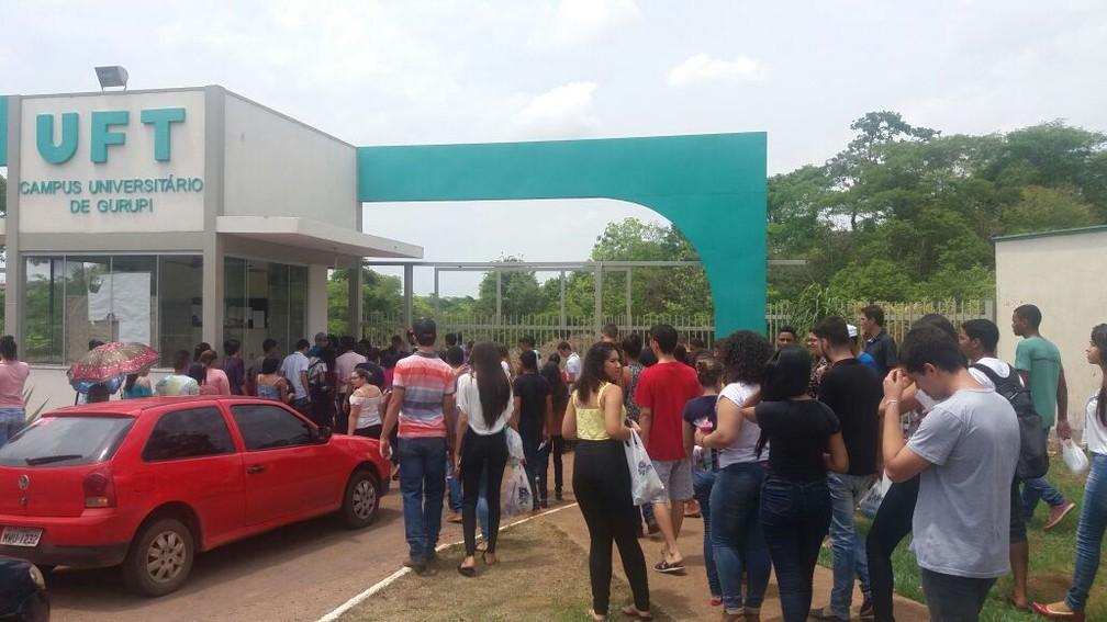 UFT é um dos principais locais de provas em Gurupi (Foto: Jairo Santos/TV Anhanguera)