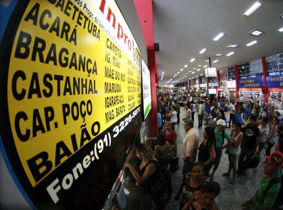 Terminal Rodoviário de São Brás, em Belém — Foto: Tarso Sarraf/O Liberal