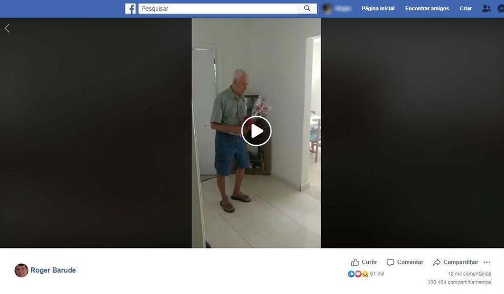 Nesta terça-feira, postagem registrava os números da viralização: mais de 10 milhões de views e 360,4 mil compartilhamentos — Foto: Facebook/Reprodução