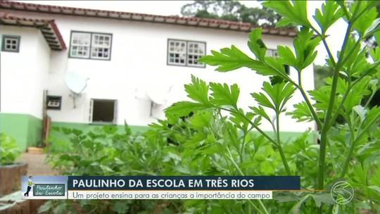 Paulinho da Escola: projeto ensina para crianças importância do campo em Três Rios