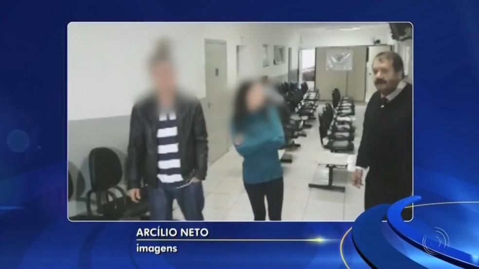 Casal apontado por suspeito preso de ter levado Vitória Gabrielly em carro fez exame e foi liberado (Foto: TV TEM/reprodução)