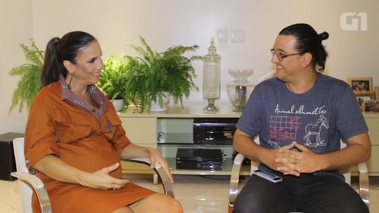 Grávida e cheia de energia, Ivete prevê como será a 19ª vez no FV: 'Um lance memorável'; assista entrevista