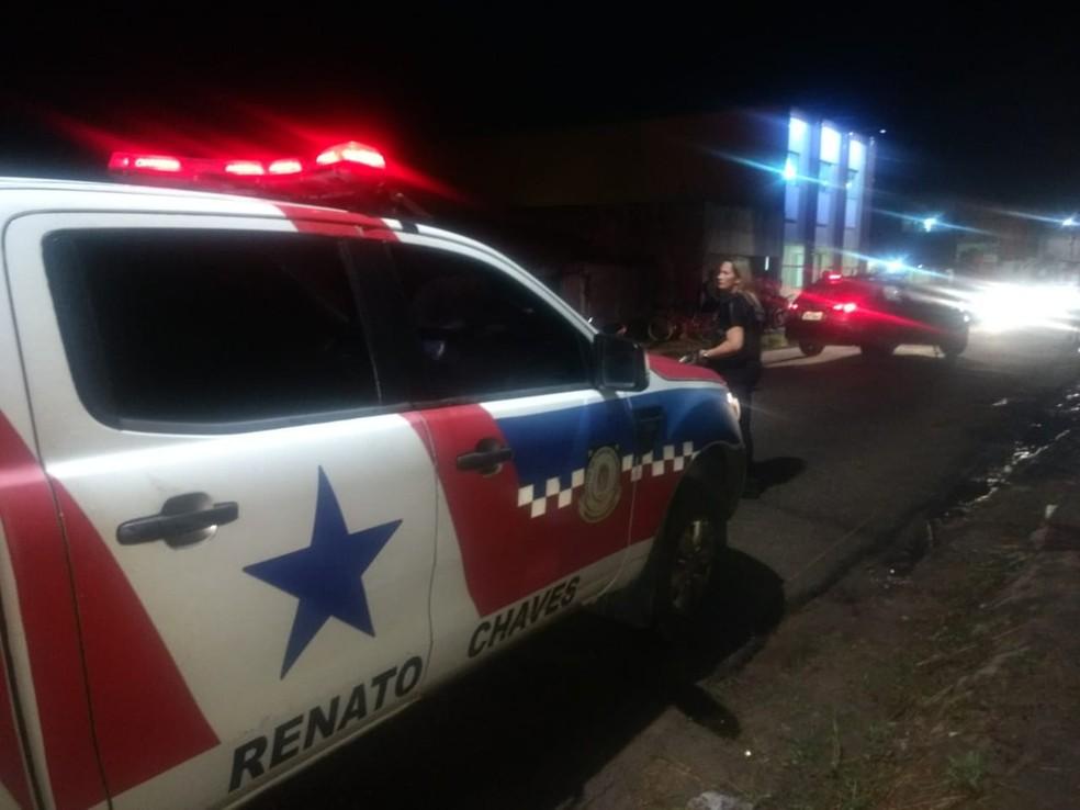 Cinco vítimas foram mortas no intervalo de dezoito minutos em Belém. — Foto: Carlos Brito / TV Liberal