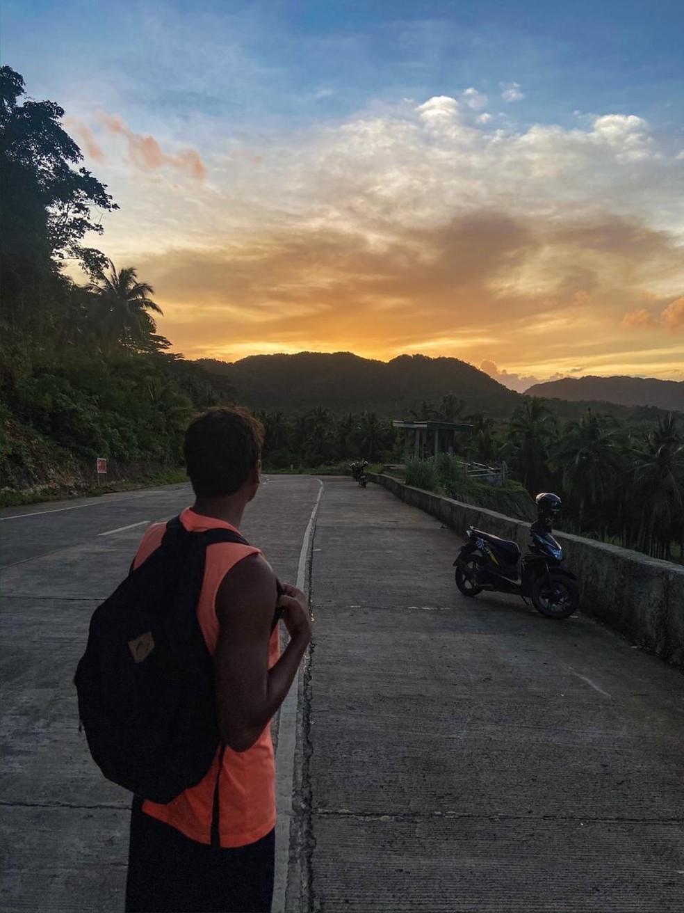 Brasileiro se diz preocupado com ordem do presidente Rodrigo Duterte para atirar em quem desrespeitar regras de isolamento nas Filipinas — Foto: Arquivo pessoal