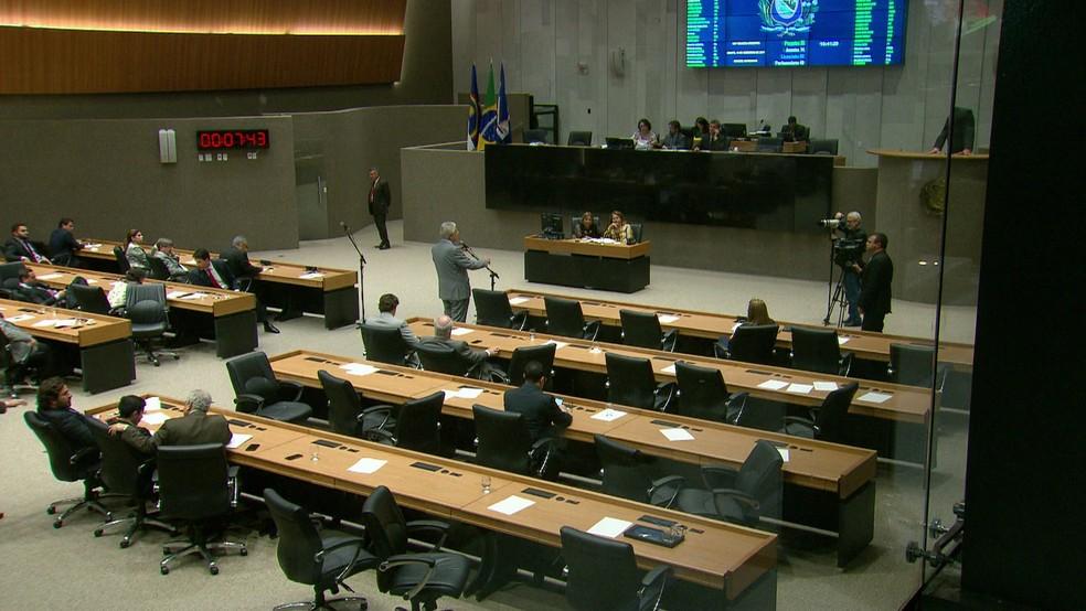 Plenário do novo prédio da Assembleia Legislativa de Pernambuco  (Foto: Reprodução/TV Globo)