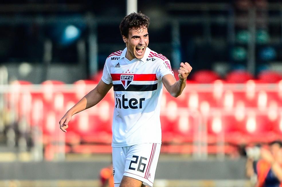 Igor Gomes comemora gols do São Paulo contra o Ituano — Foto: Renato Pizzutto/BP Filmes
