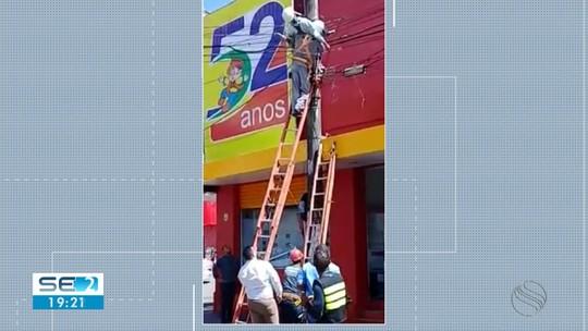 Homem é eletrocutado em poste no Centro de Aracaju