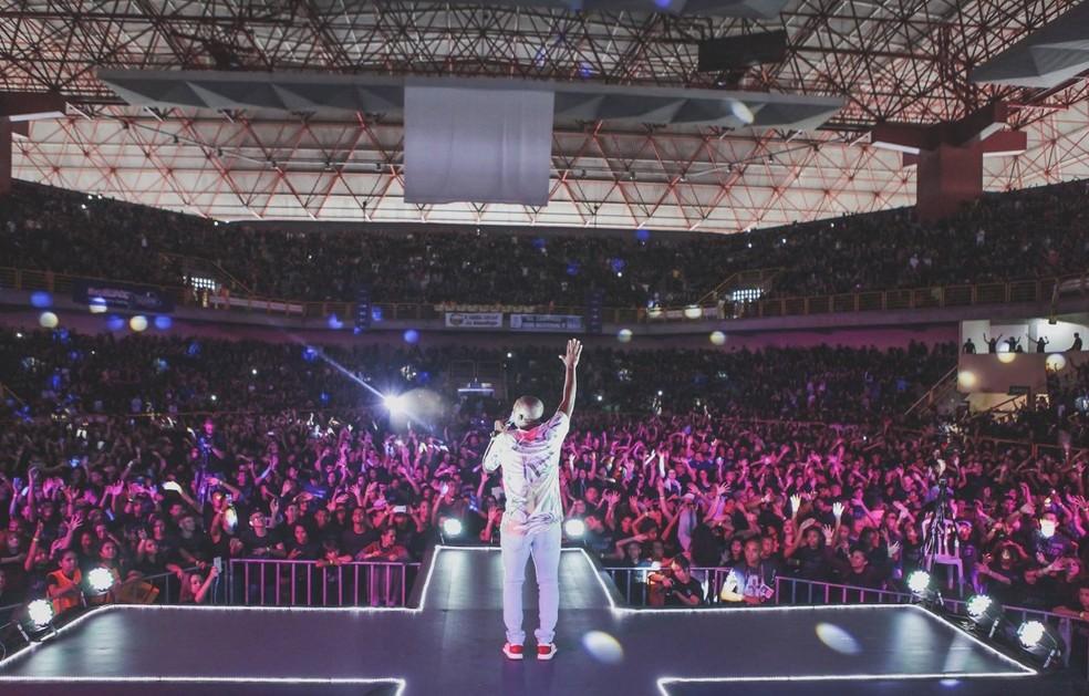 Show gospel no Goiânia Arena, em Goiânia — Foto: Gabriella Caroline/Divulgação
