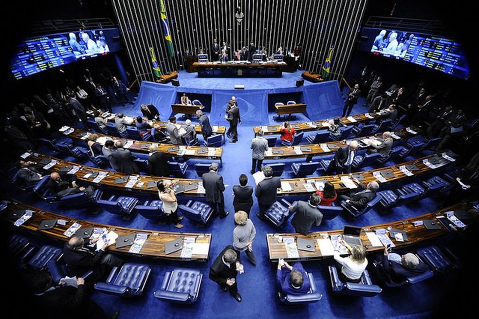 O plenário do Senado, em Brasília (Foto: Marcos Oliveira, Agência Senado)
