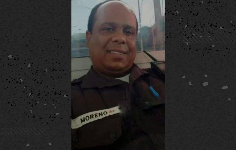 PM Diógenes Moreno morreu de Covid-19 no Rio de Janeiro — Foto: Reprodução