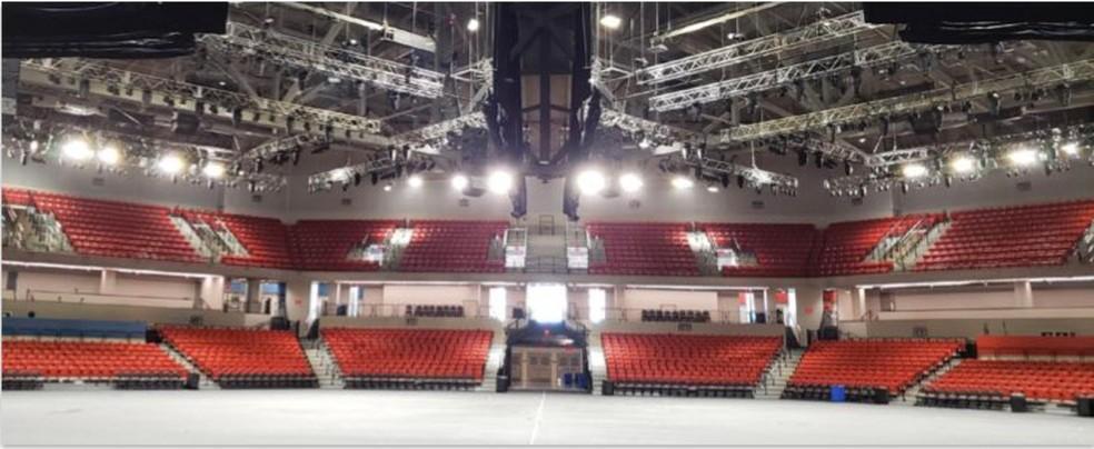 The Arena - um dos ginásios usados pela NBA na Disney — Foto: Divulgação NBA