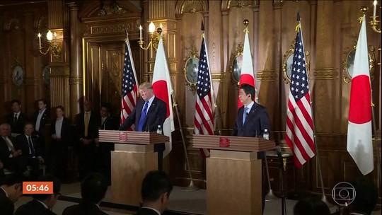 Donaldo Trump anuncia que vai visitar o Japão