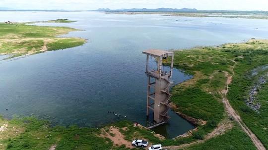 Imagens aéreas mostram recuperação do volume de água na maior barragem do RN; veja vídeo