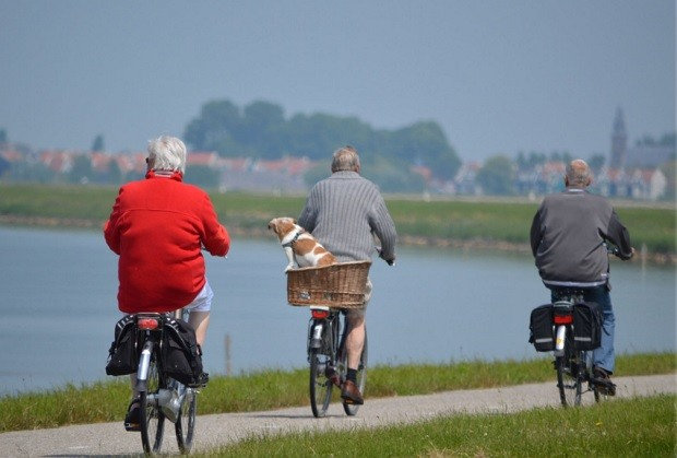 Idosos - idoso - envelhecimento - velhice - bicicleta - paz (Foto: Pexels)