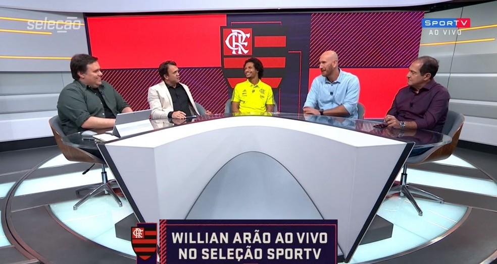 Willian Arão em participação no Seleção SporTV — Foto: Reprodução