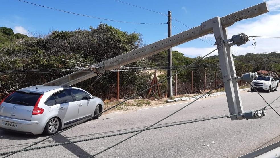 Julho registrou acidentes na Via Costeira — Foto: Sérgio Henrique Santos/Inter TV Cabugi