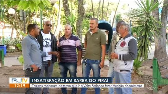 Taxistas de Barra do Piraí reclamam de viagem a outra cidade para aferição dos taxímetros