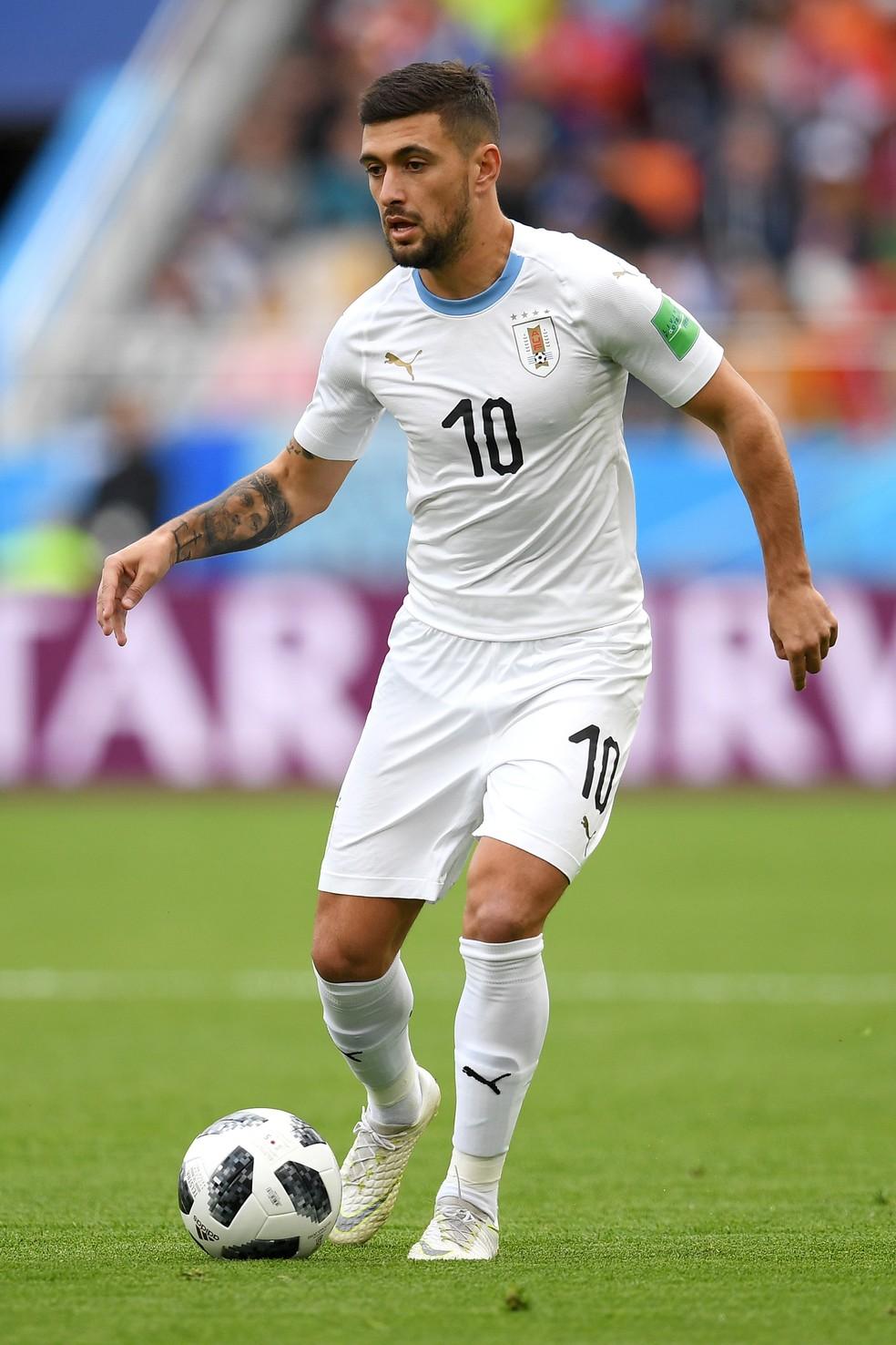 Arrascaeta com a camisa do Uruguai na Copa do Mundo da Rússia — Foto: gettyimages